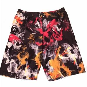 OP boys smoke print swim trunks
